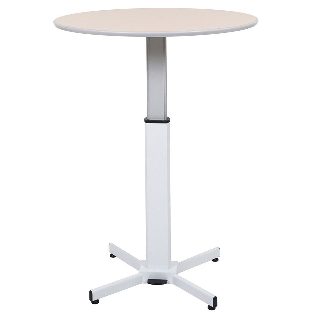 "Luxor Furniture LX-PNADJ-ROUND 31.5"" Round Adjustable Pedestal Table - Steel Base, Laminate Tabletop"