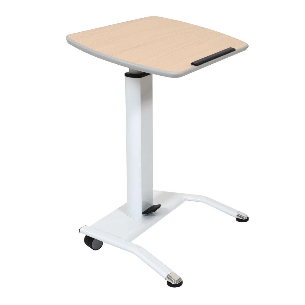 "Luxor Furniture LX-PNADJ-WH 25.5"" Adjustable Mobile Lectern - Steel Frame, White"