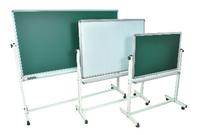 Luxor Furniture MB3624 Reversible Whiteboard & Chalkboard w/ 2-Magnetic Sides, 36 x 24""