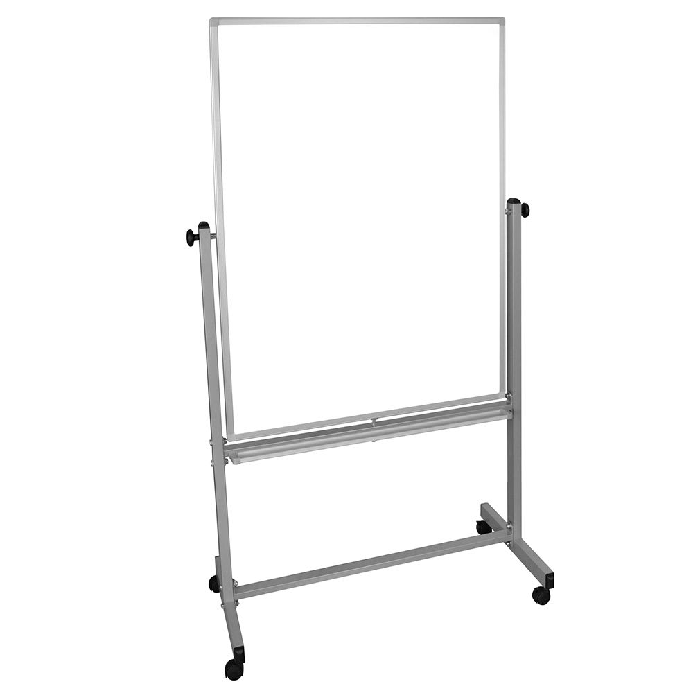 Luxor Furniture MB3648WW Reversible Magnetic Whiteboard w/ Aluminum Frame, 36x48""