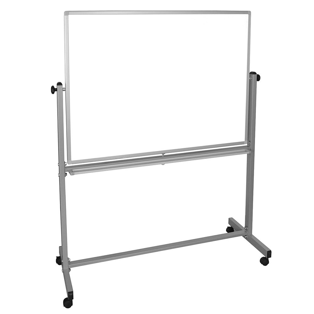 """Luxor Furniture MB4836WW Reversible Whiteboard w/ 2 Magnetic Sides, 48 x 36"""""""