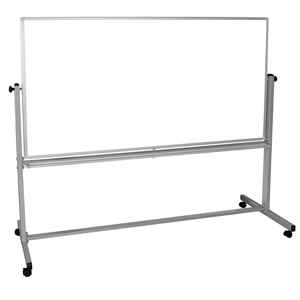 Luxor Furniture MB7240WW Reversible Whiteboard w/ 2-Magnetic Sides, 72 x 40""