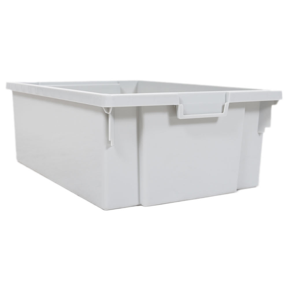 "Luxor Furniture MBS-BIN-4L 3"" Stackable Storage Bins for MBS Storage Units - Polypropylene, Gray"