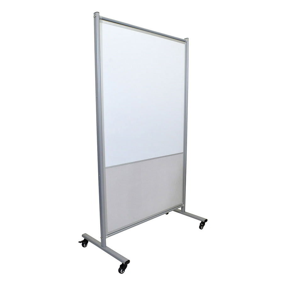 """Luxor Furniture MD4072MW Mobile Whiteboard Room Divider w/ Bulletin Board - 64"""" x 38.5"""", Magnetic"""