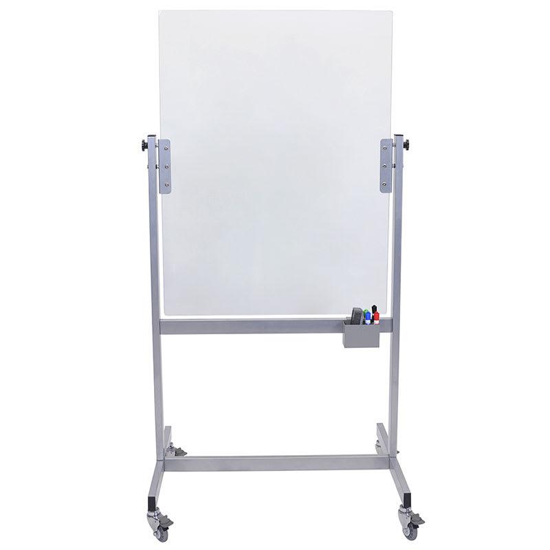 "Luxor Furniture MGB3040 Mobile Marker Board - 30x40"" Tempered Glass, Steel Frame"