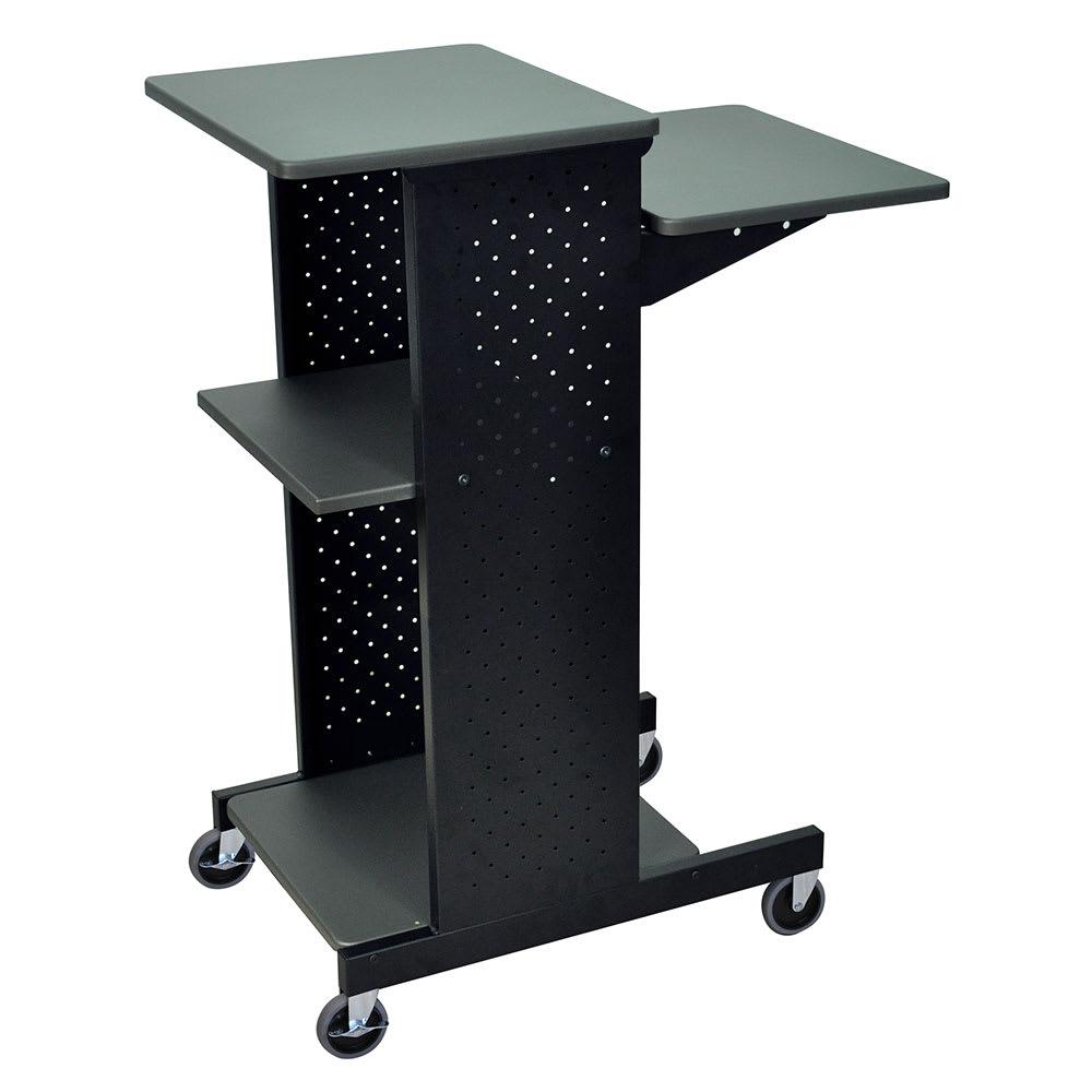 """Luxor Furniture PS4000 Mobile Presentation Station w/ 4-Work Surfaces & Steel Frame, Adjust to 33"""" H"""