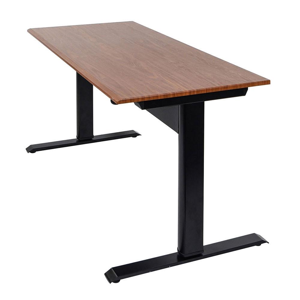 """Luxor Furniture SPN48F-BK/TK 48"""" Adjustable Standing Desk - Steel Frame, Teak Tabletop"""