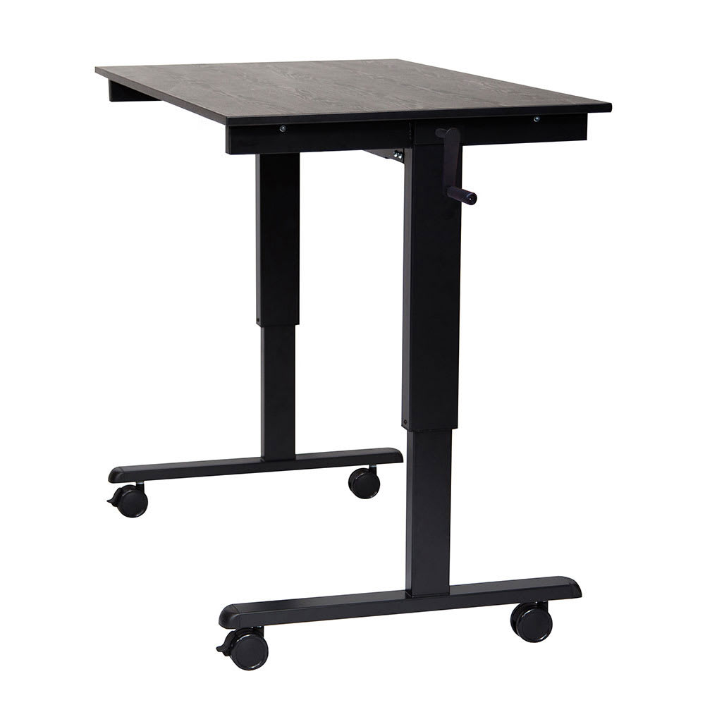 Luxor Furniture Standcf48 Bk Bo 48 Adjule Standing Desk Black Frame Oak Tabletop