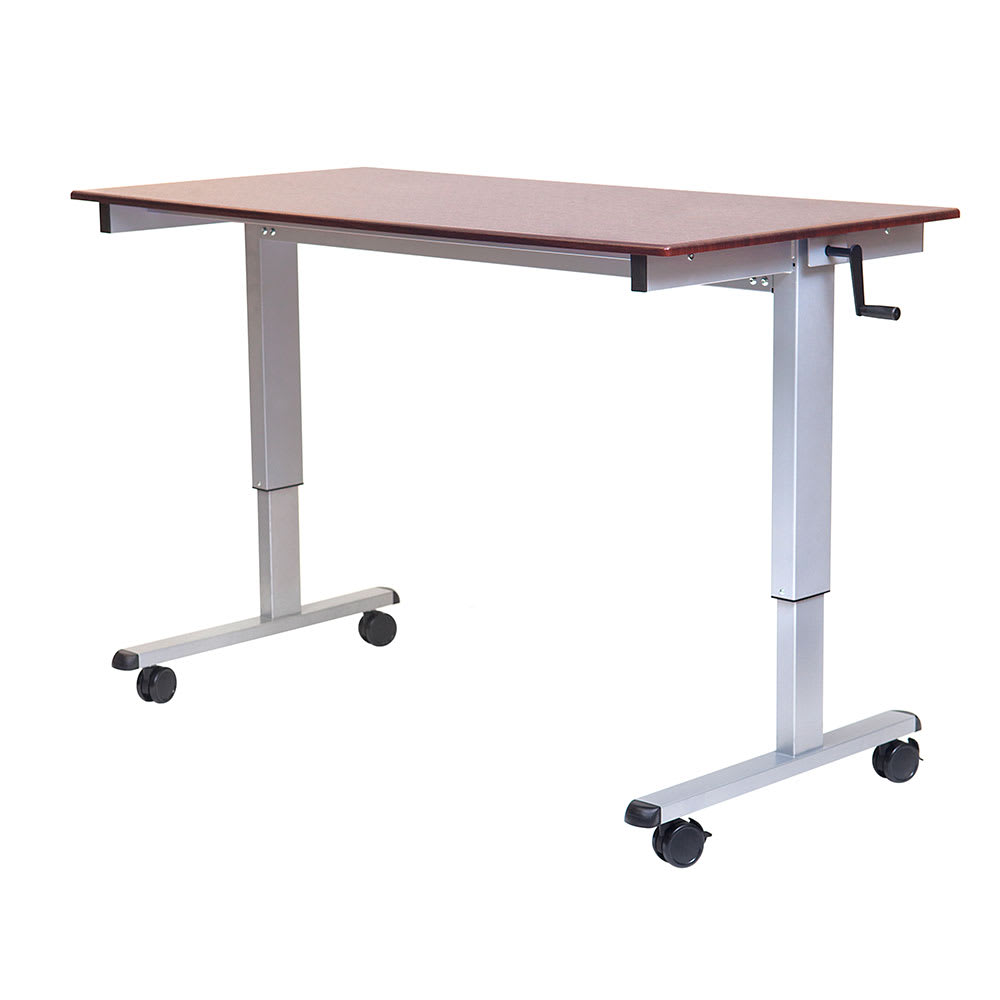 "Luxor Furniture STANDUP-CF60-DW Adjustable Stand-Up Desk w/ Laminate Work Surface, 59""W x 30""D"