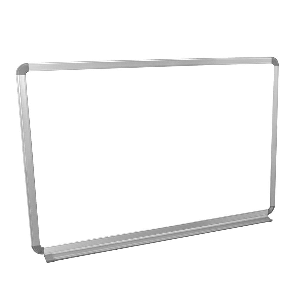 "Luxor Furniture WB3624W 36x24"" Painted Steel Magnetic White Board w/ Aluminum Frame & Tray"