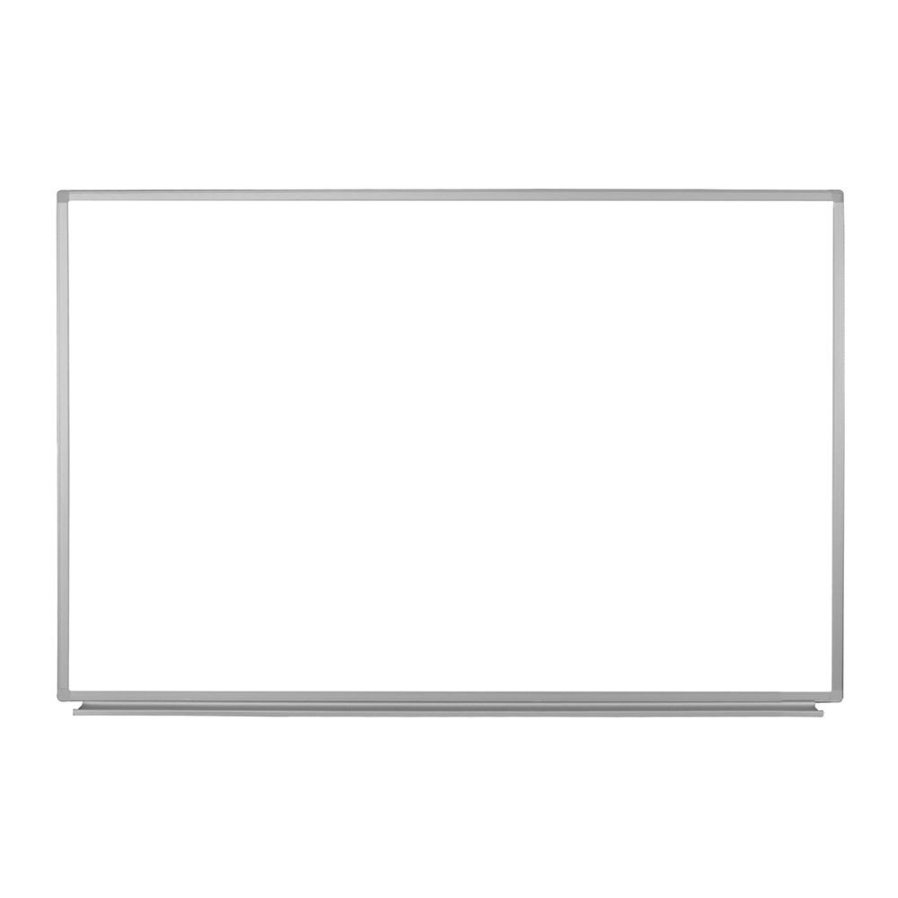 "Luxor Furniture WB6040W 60"" x 40"" Wall-Mounted Whiteboard w/ Aluminum Frame"