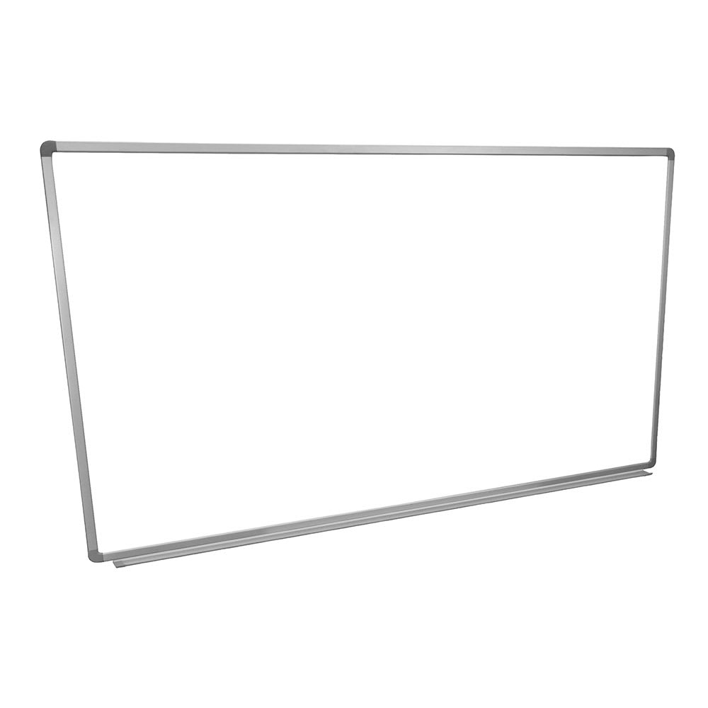 "Luxor Furniture WB7240W 72x40"" Painted Steel Magnetic White Board w/ Aluminum Frame & Tray"