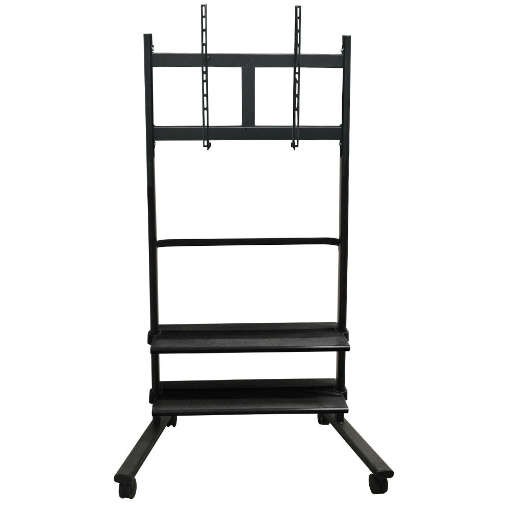 Luxor Furniture WFP200-B Universal LCD/Flat Panel TV Cart, 38.75x27.75x61.25""