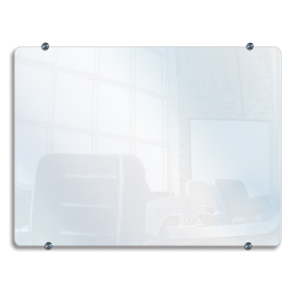 """Luxor Furniture WGB4834 Wall-Mounted Glass Wet/Dry Erase Board - 48""""x34"""", Tempered Glass"""