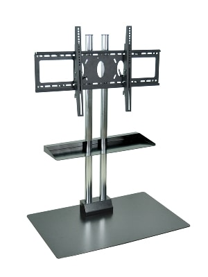 """Luxor Furniture WPSMS44CH Stationary Flat Panel TV Stand & Mount, Accomodates Up to 60"""", Black Base"""