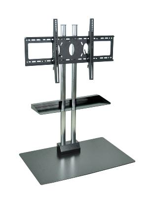 "Luxor Furniture WPSMS44SCH Stationary Flat Panel TV Stand & Mount w/Shelf, Accomodates to 60"", Black Base"