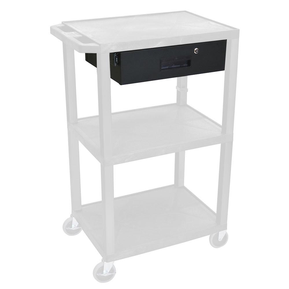 "Luxor Furniture WT-DDRAWER Locking Storage Drawer - 17.5"" x 14"" x 4.75"", Steel, Black"