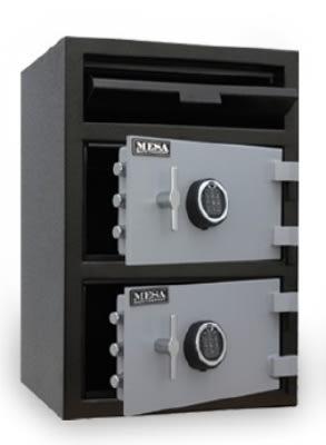 Mesa MFL3020EKK BLKGR Depository Safe - All Steel, Keyed Lock, 6.7 cu ft, Blk/Gry