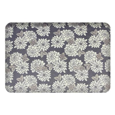 Wellness Mats P32SC213HK Seasons Cover for Wellness Mat w/ Non-Slip Bottom, Machine Washable, Mums Carbon