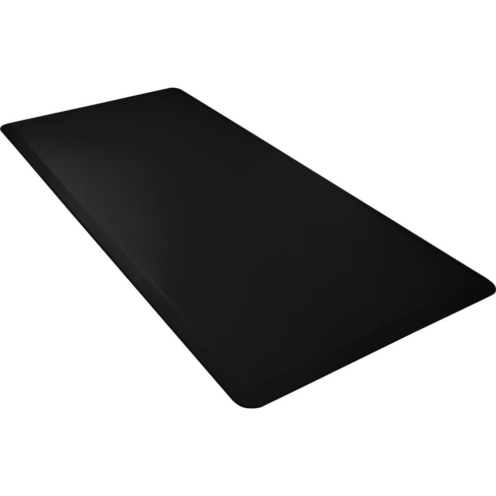 Wellness Mats 63WMRBLK High Comfort Mat, 6 x 3-ft, (APT) Poly, No-Slip, Black