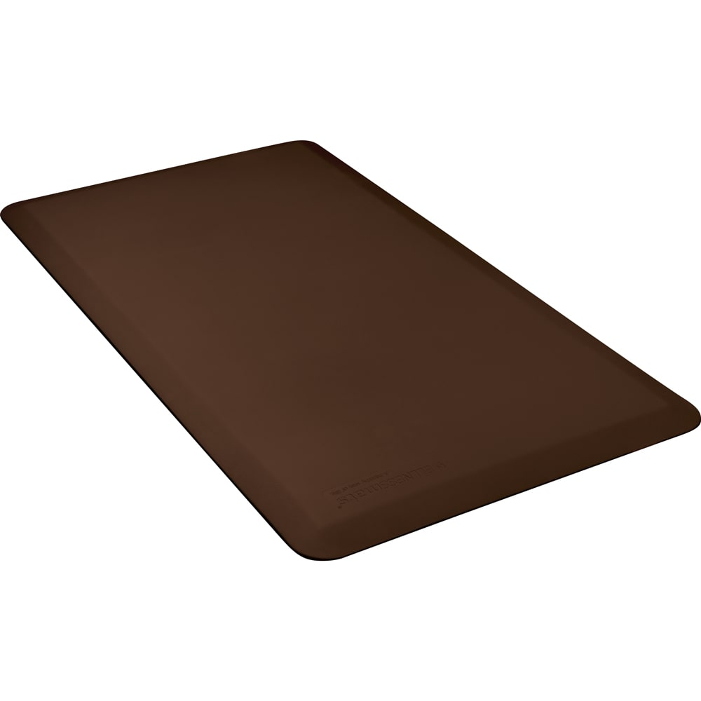 Wellness Mats FIT4BRN Fitness Mat w/ No-Trip Beveled Edge & Non-Slip Material, 4x2.16-ft, Brown