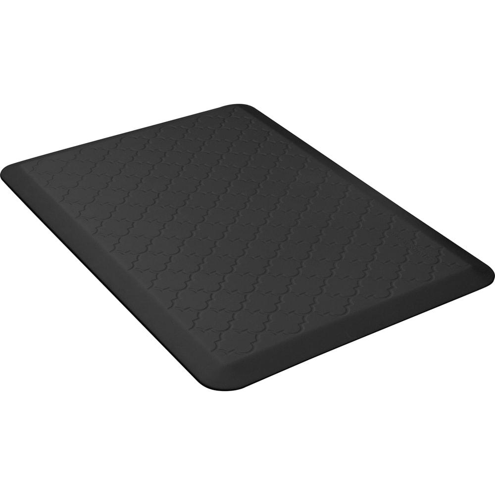 Wellness Mats MT32WMRBLK Textured Patterns Mat, 3 x 2-ft, Poly, No-Slip, Black