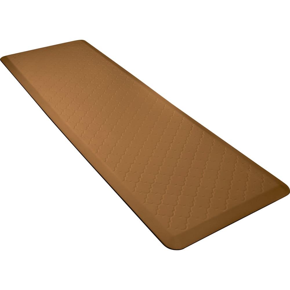 Wellness Mats MT62WMRTAN Textured Patterns Mat, 6 x 2-ft, Poly, No-Slip, Tan