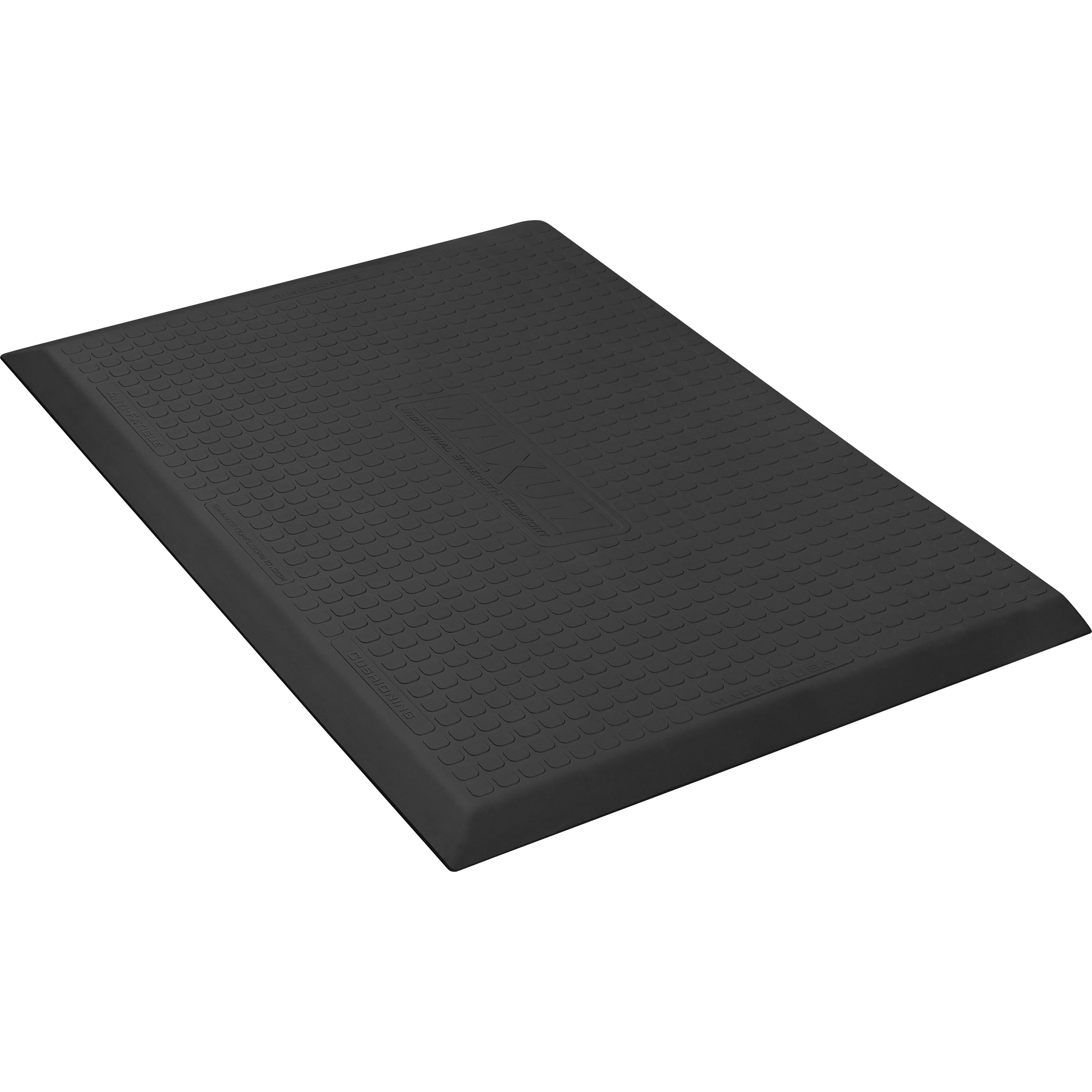 Wellness Mats MXR32BLK Maxum Mat w/ No-Trip Beveled Edge & Non-Slip Material, 3x2-ft, Black