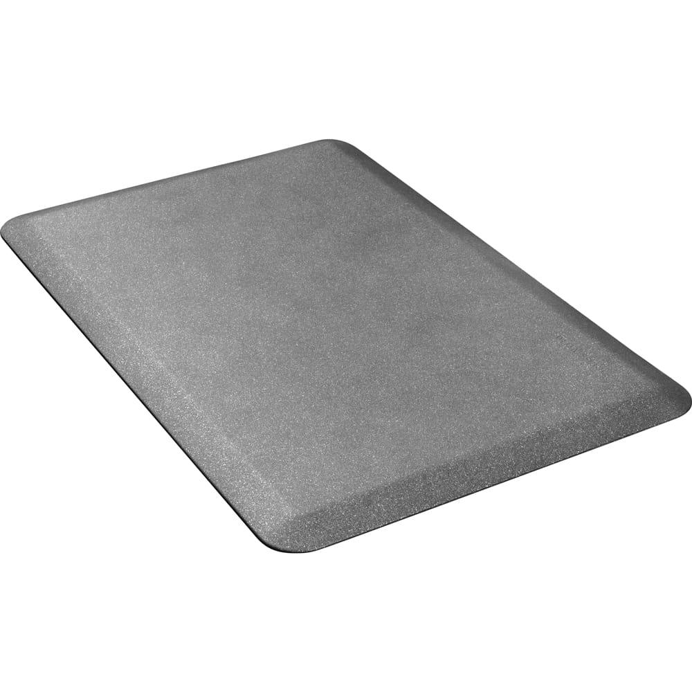 Wellness Mats P32WMRGS Wellness Mat w/ No-Trip Beveled Edge & Non-Slip Material, 3x2-ft, Granite Steel