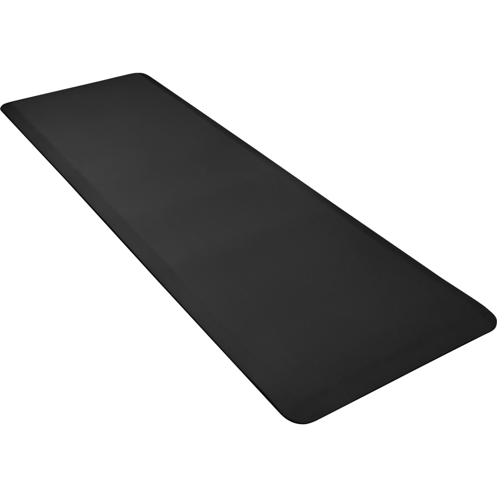 Wellness Mats P62WMRBLK Wellness Mat w/ No-Trip Beveled Edge & Non-Slip Material, 6x2-ft, Black