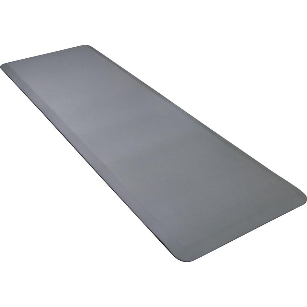 Wellness Mats P62WMRGRY Wellness Mat w/ No-Trip Beveled Edge & Non-Slip Material, 6x2-ft, Gray