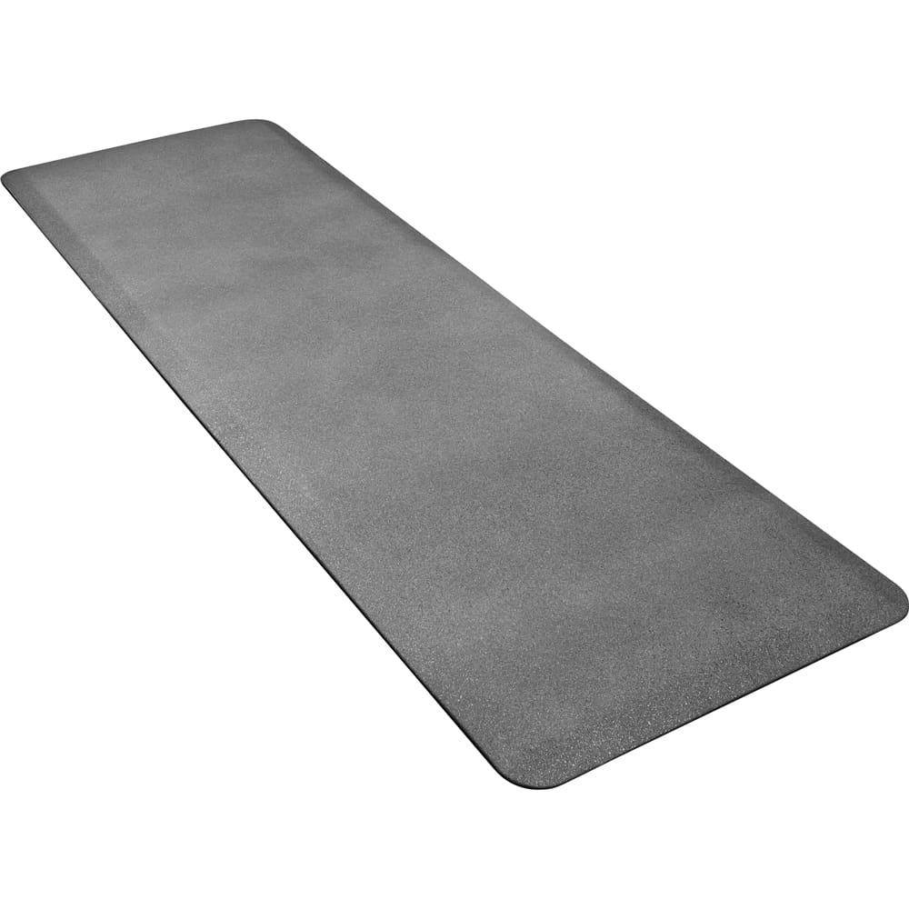 Wellness Mats P62WMRGS Wellness Mat w/ No-Trip Beveled Edge & Non-Slip Material, 6x2-ft, Granite Steel