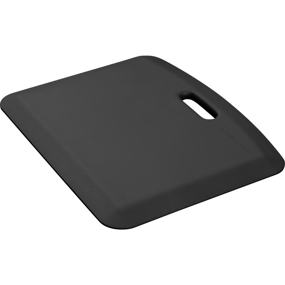 "Wellness Mats PCOMPWMRBLK Companion Mat w/ No-Trip Beveled Edge & Non-Slip Material, 22x18"", Black"