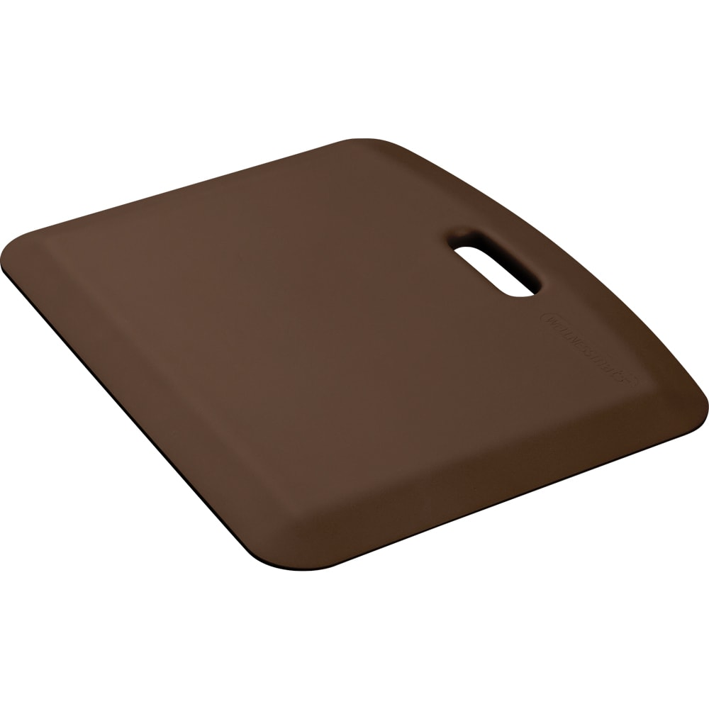"Wellness Mats PCOMPWMRBRN Companion Mat w/ No-Trip Beveled Edge & Non-Slip Material, 22x18"", Brown"