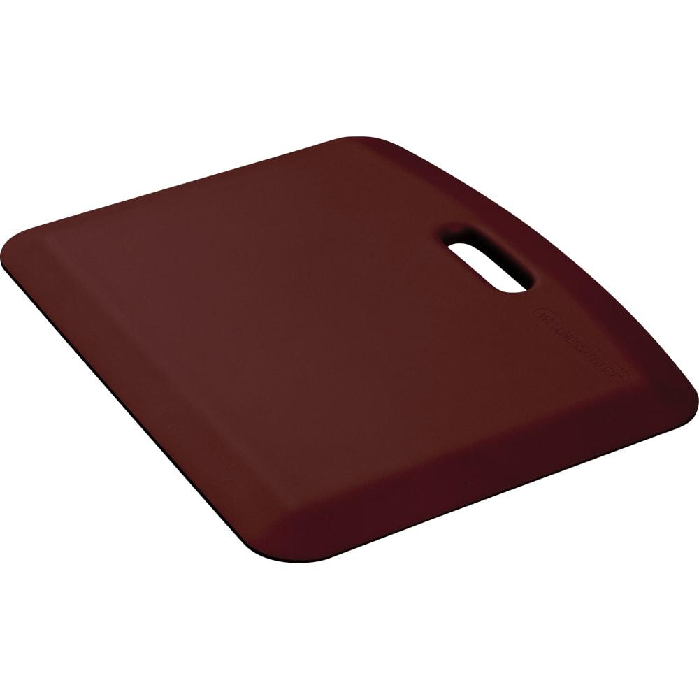 "Wellness Mats PCOMPWMRBUR Companion Mat w/ No-Trip Beveled Edge & Non-Slip Material, 22x18"", Burgundy"