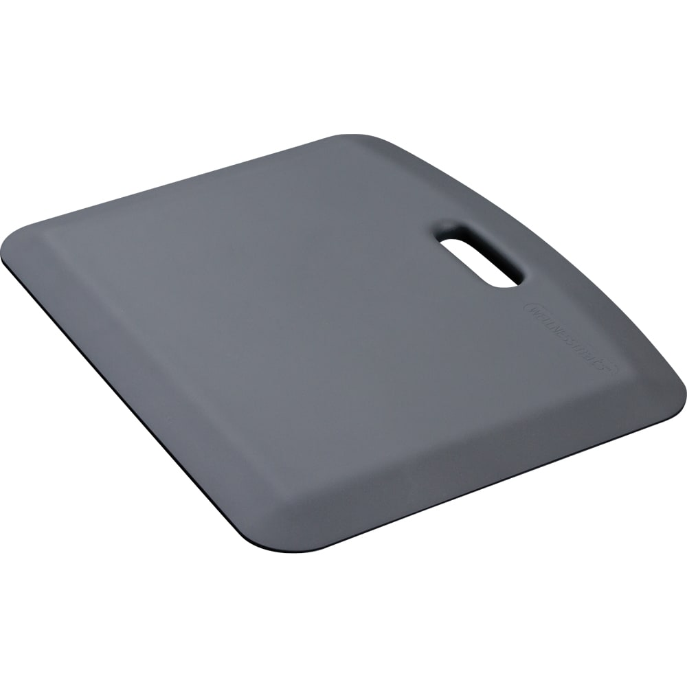 "Wellness Mats PCOMPWMRGRY Companion Mat w/ No-Trip Beveled Edge & Non-Slip Material, 22x18"", Gray"
