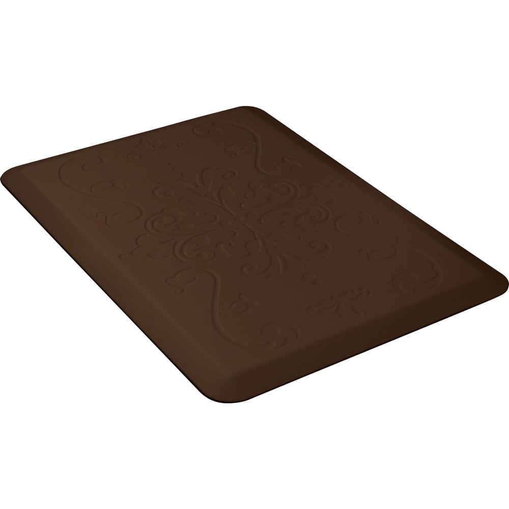 Wellness Mats PME32WMRBRN Entwine Motif Mat w/ No-Trip Beveled Edge & Non-Slip Material, 3x2-ft, Brown