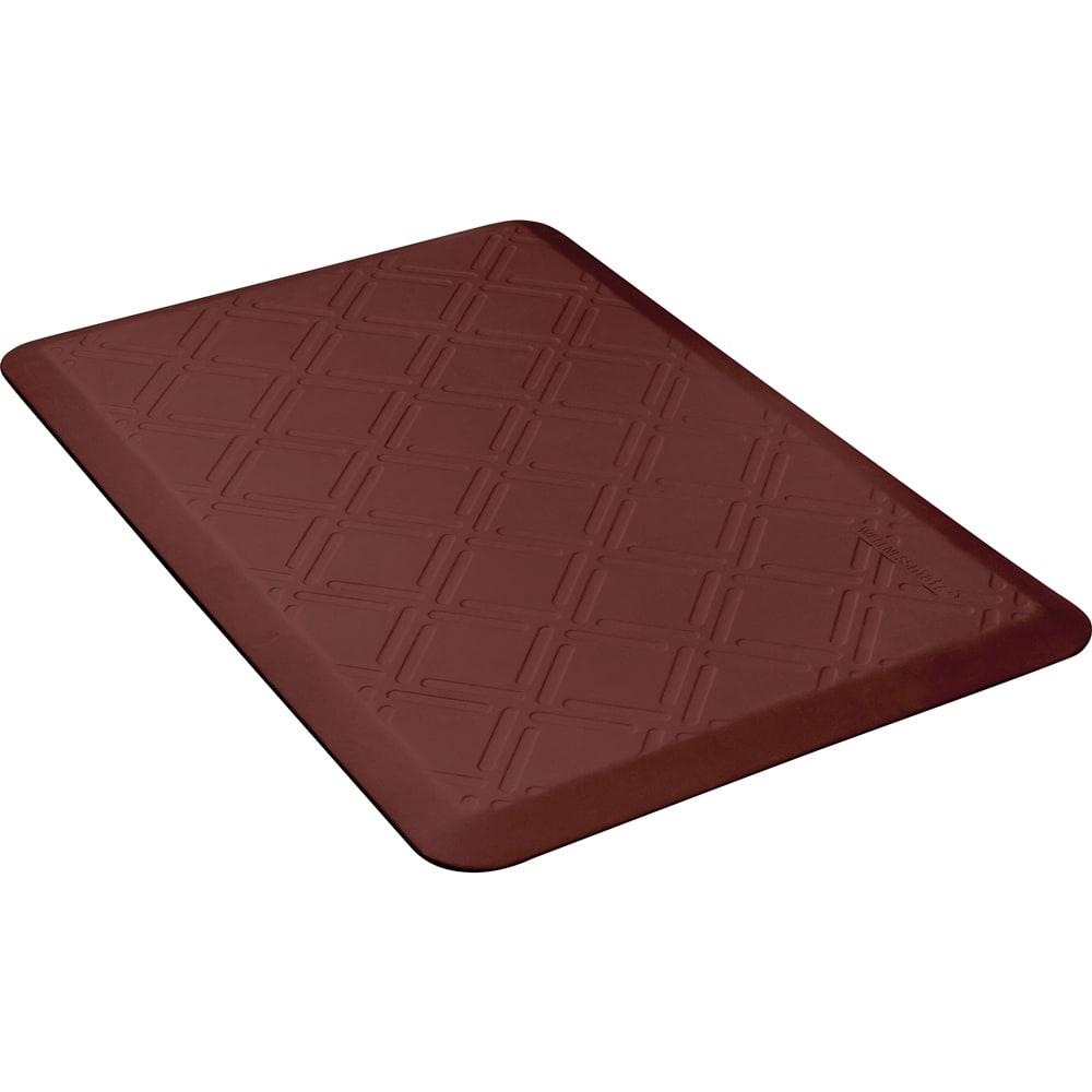 Wellness Mats PMM32WMRBUR Moire Motif Mat w/ No-Trip Beveled Edge & Non-Slip Material, 3x2-ft, Burgundy