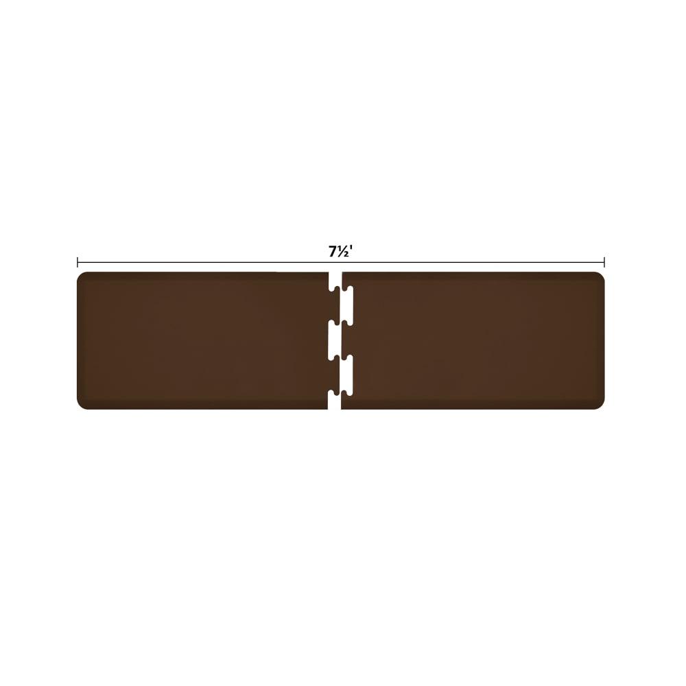 Wellness Mats RS2WMP75BRN Puzzle Piece Runner w/ Non-Slip Top & Bottom, 7.5x2-ft, Brown