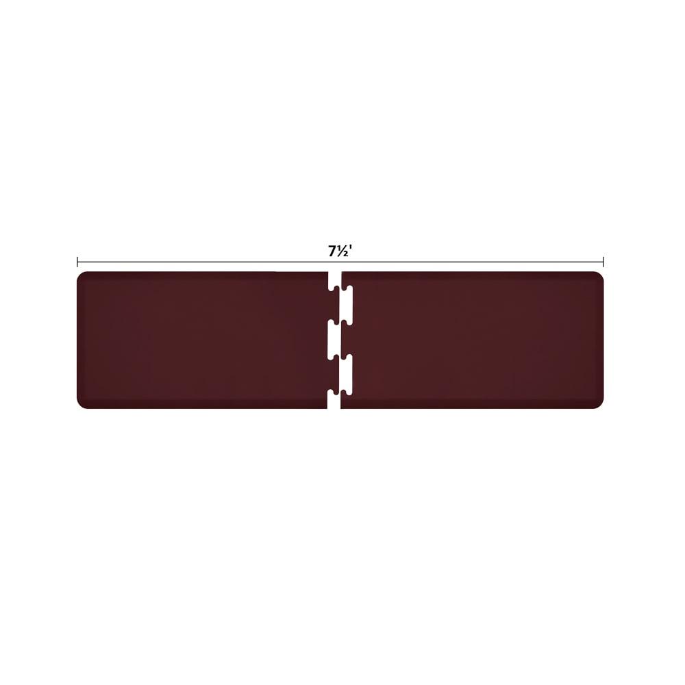 Wellness Mats RS2WMP75BUR Puzzle Piece Runner w/ Non-Slip Top & Bottom, 7.5x2-ft, Burgundy