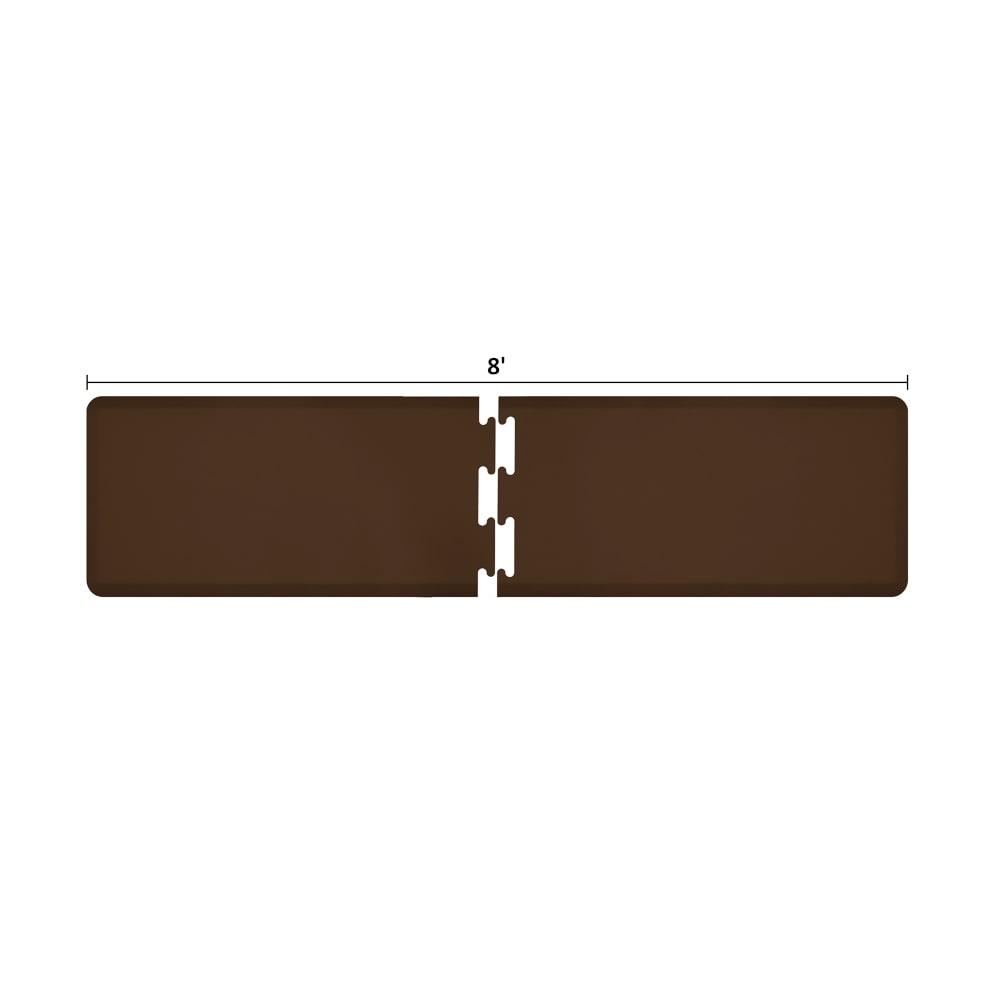 Wellness Mats RS2WMP80BRN Puzzle Piece Runner w/ Non-Slip Top & Bottom, 8x2-ft, Brown