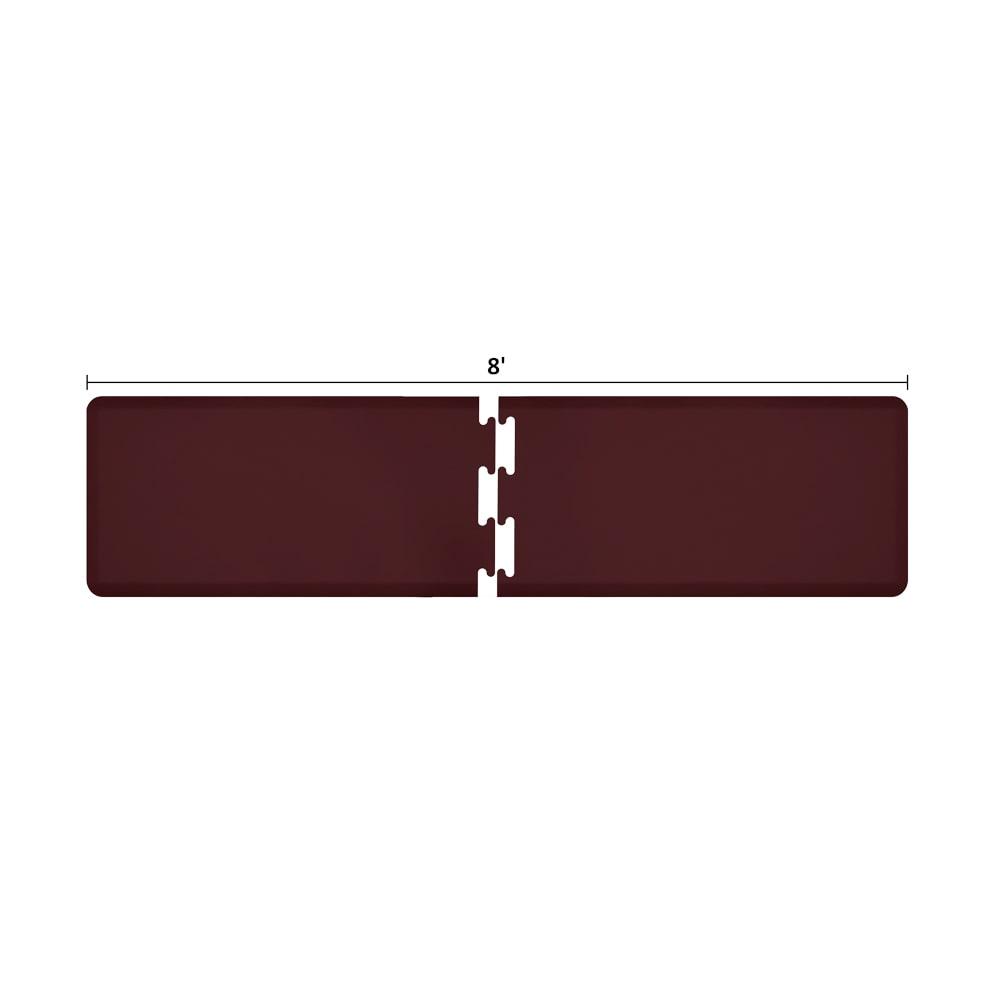 Wellness Mats RS2WMP80BUR Puzzle Piece Runner w/ Non-Slip Top & Bottom, 8x2-ft, Burgundy