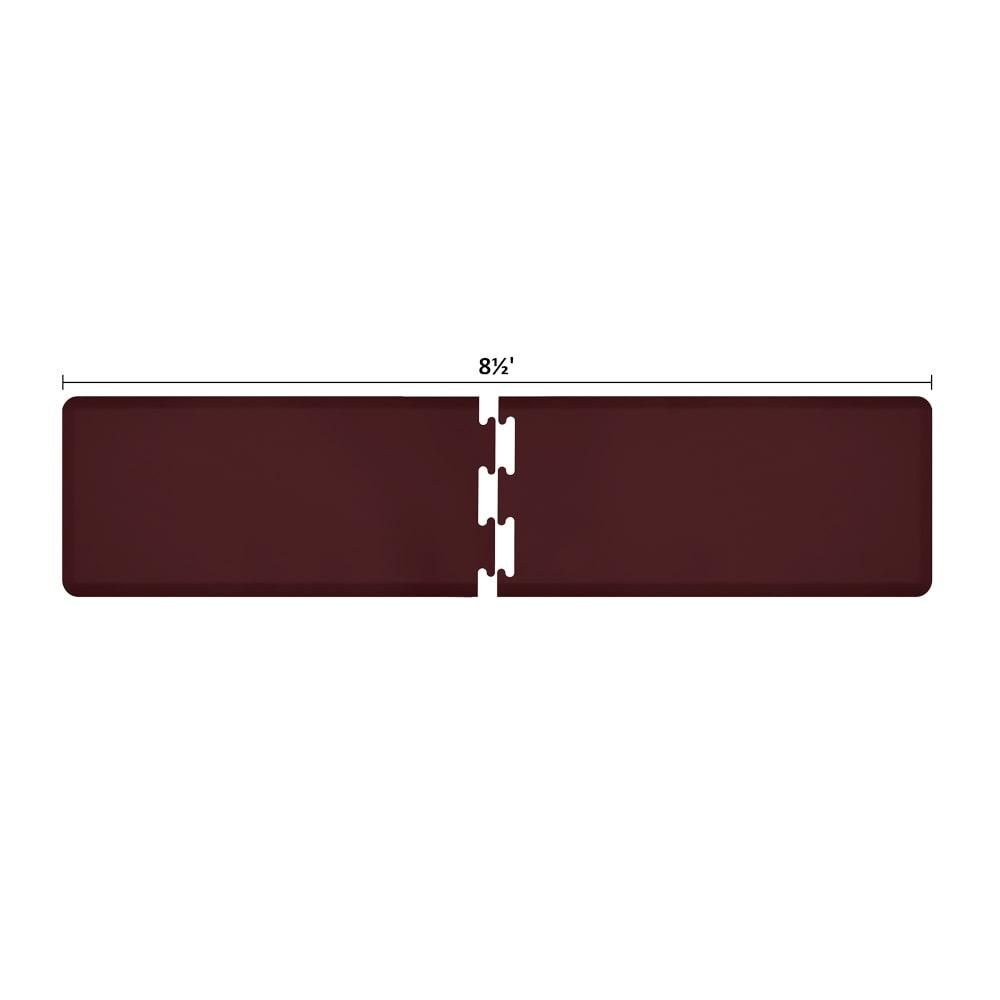 Wellness Mats RS2WMP85BUR Puzzle Piece Runner w/ Non-Slip Top & Bottom, 8.5x2-ft, Burgundy