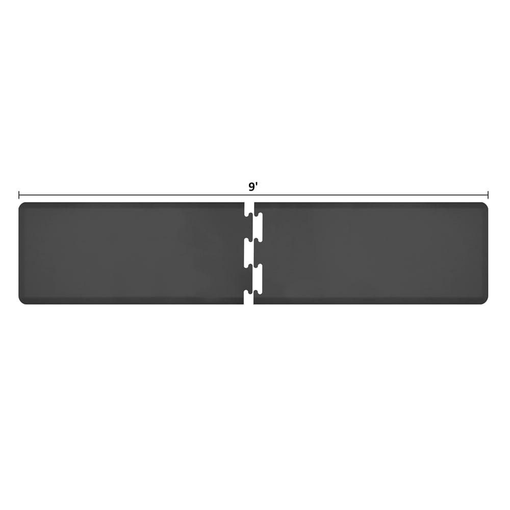 Wellness Mats RS2WMP90BLK Puzzle Piece Runner w/ Non-Slip Top & Bottom, 9x2-ft, Black