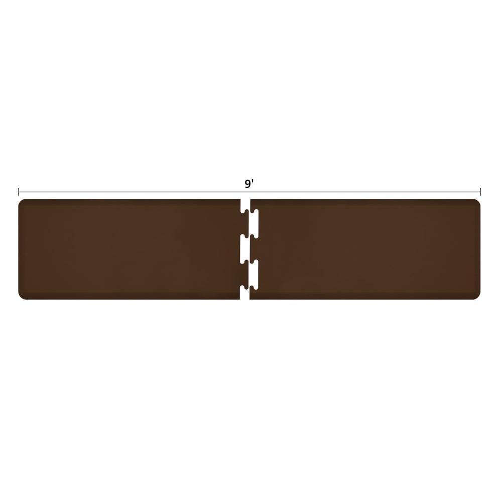 Wellness Mats RS2WMP90BRN Puzzle Piece Runner w/ Non-Slip Top & Bottom, 9x2-ft, Brown