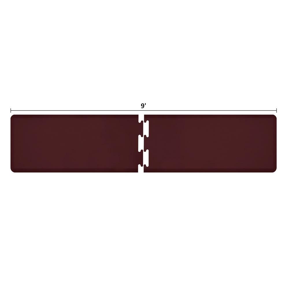 Wellness Mats RS2WMP90BUR Puzzle Piece Runner w/ Non-Slip Top & Bottom, 9x2-ft, Burgundy