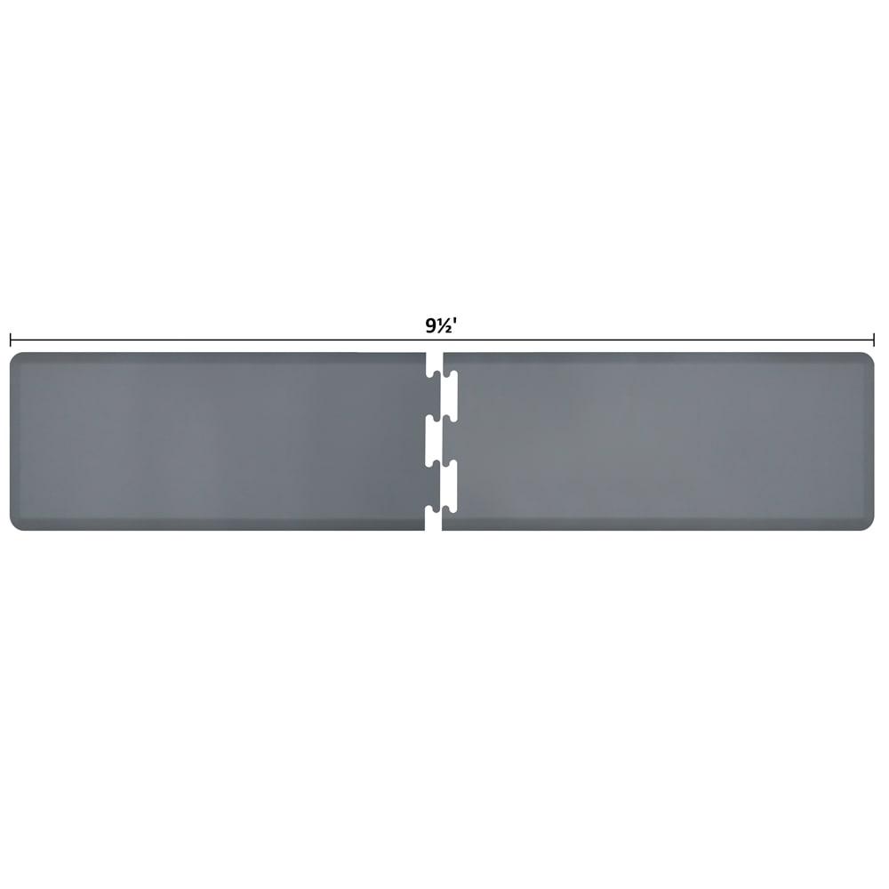 Wellness Mats RS2WMP95GRY Puzzle Piece Runner w/ Non-Slip Top & Bottom, 9.5x2-ft, Gray