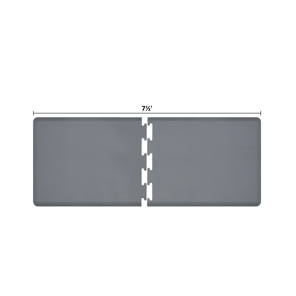 Wellness Mats RS3WMP75GRY Puzzle Piece Runner w/ Non-Slip Top & Bottom, 7.5x3-ft, Gray