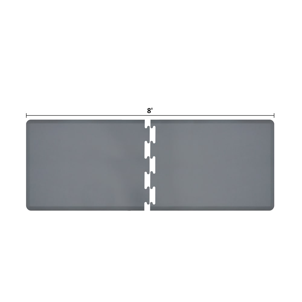 Wellness Mats RS3WMP80GRY Puzzle Piece Runner w/ Non-Slip Top & Bottom, 8x3-ft, Gray