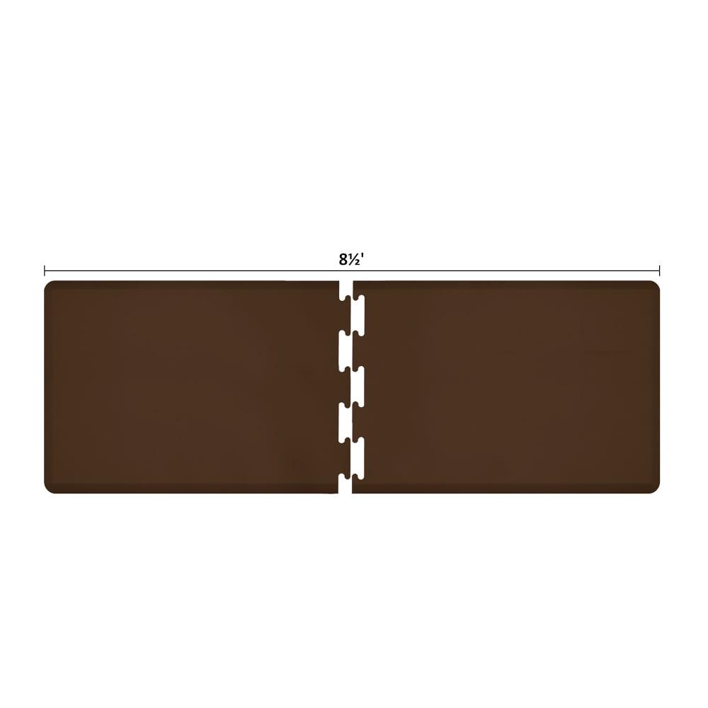Wellness Mats RS3WMP85BRN Puzzle Piece Runner w/ Non-Slip Top & Bottom, 8.5x3-ft, Brown